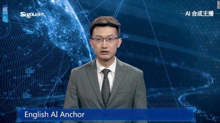 Umelá inteligencia s ľudskou podobou v Čínskych správach!